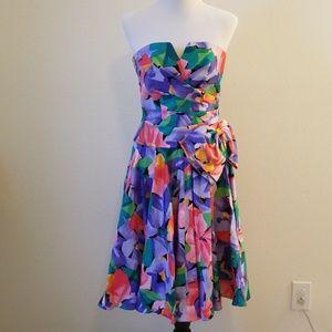 A.J. Bari Neiman Marcus Floral Dress Garden Party
